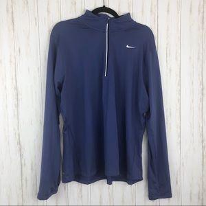 Nike 1X dri-fit 3/4 zip sweatshirt